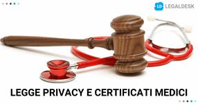 Legge privacy e certificati medici