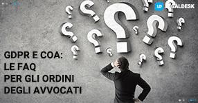GDPR e COA: le FAQ per gli ordini degli avvocati