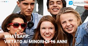 WhatsApp: vietato ai minori di 16 anni