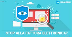 Fattura elettronica bloccata dal Garante Privacy?