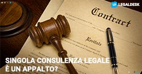 La singola consulenza legale è un appalto?