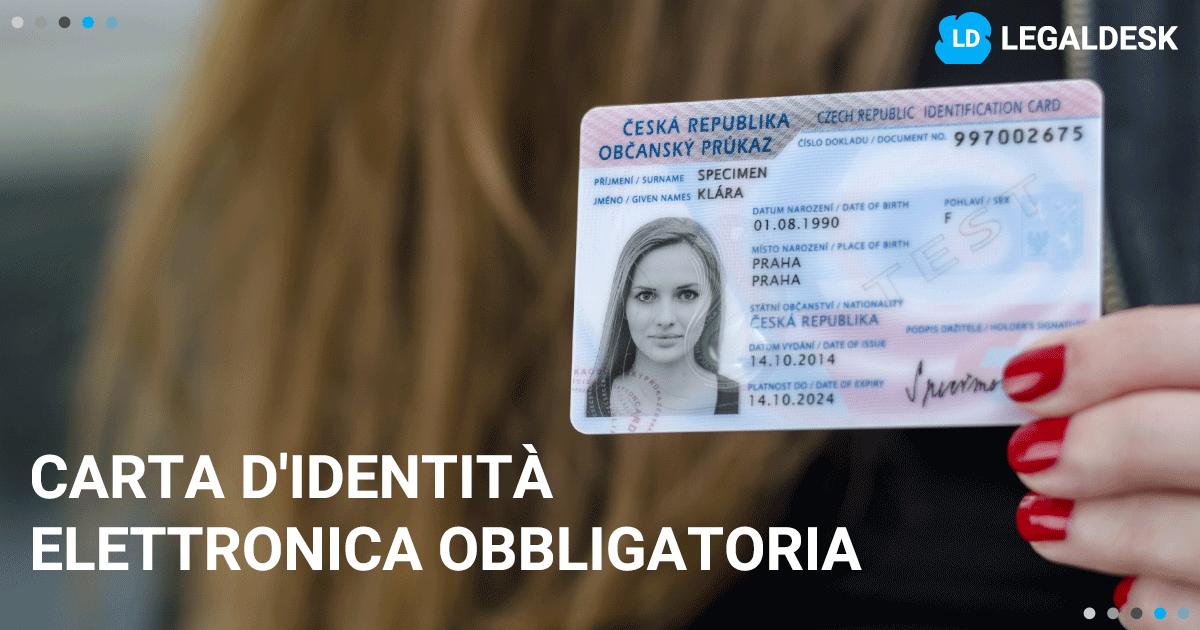 Carta d\'identità elettronica obbligatoria per tutti