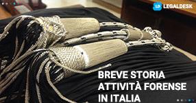 Breve storia dell'attività forense in Italia